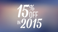 Image for 15% Off in 2015 promotion