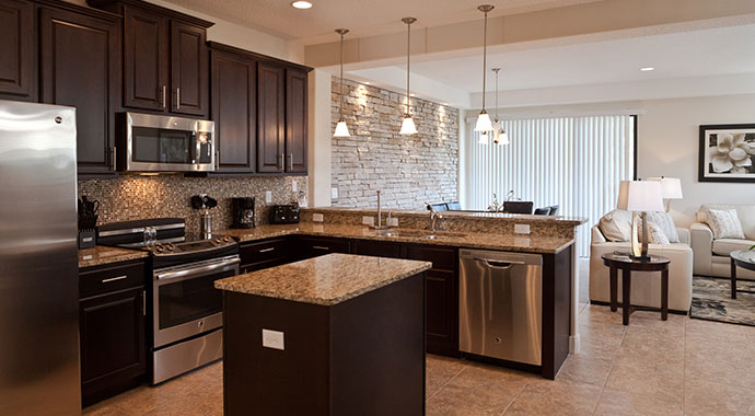 The Fountains at ChampionsGate Orlando Four Bedroom Townhome Kitchen