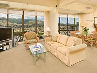 SUN 200x150 Room 2BDR Penthouse Mountain View Living Area