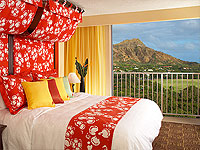 WOW 200x150 Room AS Aloha Suite Partial Ocean View with King Bed and View of Diamond Head