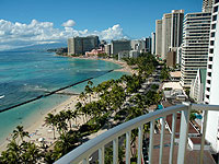 WOW 200x150 Room HR Hotel Room Oceanfront View of Waikiki from Lanai 01