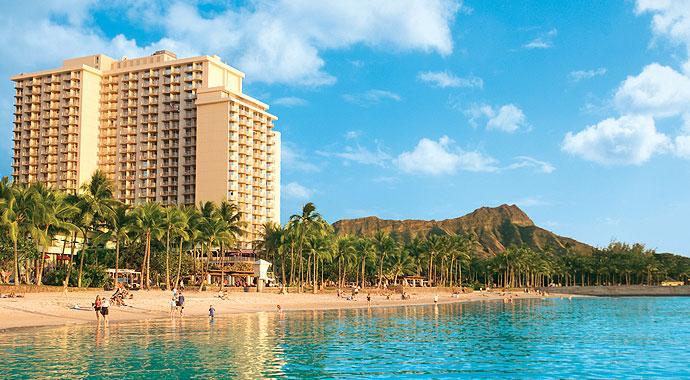 Aerial View Of Aston Waikiki Beach Hotel Facing Diamond Head And